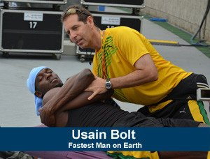 a picture of Usain Bolt and Dr. Doubles