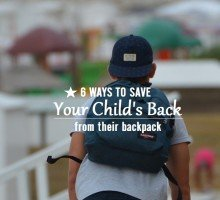 a picture of a child wearing a backpack