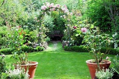 a picture of a beautiful garden